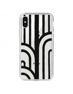 Coque Geometric Noir Transparente pour iPhone X - Dricia Do
