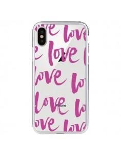 Coque iPhone X et XS Love Love Love Amour Transparente - Dricia Do
