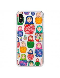 Coque Matryoshka Dolls Poupées Russes Transparente pour iPhone X - kateillustrate