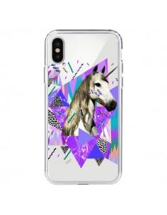 Coque iPhone X et XS Licorne Unicorn Azteque Transparente - Kris Tate