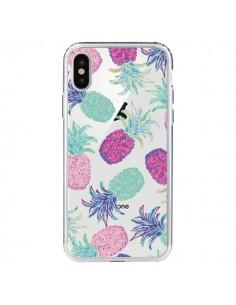 Coque iPhone X et XS Ananas Pineapple Fruit Ete Summer Transparente - Lisa Argyropoulos