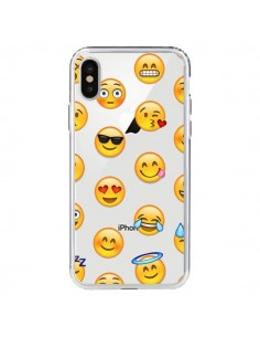 Coque Smiley Emoticone Emoji Transparente pour iPhone X - Laetitia