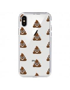 Coque iPhone X et XS Shit Poop Emoticone Emoji Transparente - Laetitia