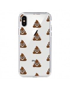 Coque Shit Poop Emoticone Emoji Transparente pour iPhone X - Laetitia