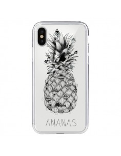 Coque Ananas Fruit Transparente pour iPhone X - LouJah