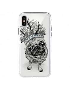 Coque Chien Roi Bulldog Indien Transparente pour iPhone X - LouJah