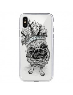 Coque iPhone X et XS Chien Roi Bulldog Indien Transparente - LouJah