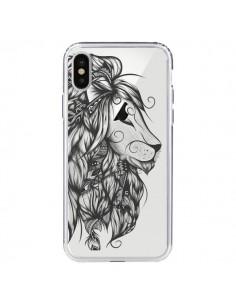 Coque Lion Poétique Transparente pour iPhone X - LouJah