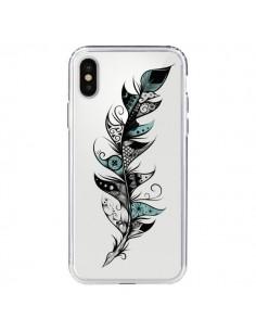 Coque Plume Poétique Transparente pour iPhone X - LouJah