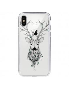 Coque Cerf Poétique Transparente pour iPhone X - LouJah