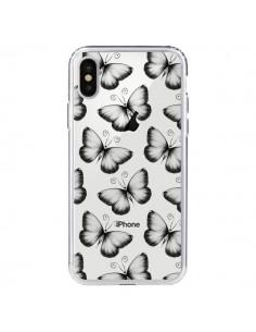 Coque Papillons Transparente Transparente pour iPhone X - LouJah