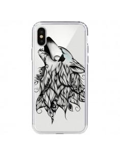 Coque Loup Hurlant Transparente pour iPhone X - LouJah