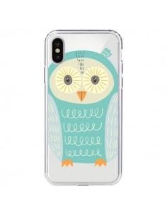 Coque Hibou Owl Transparente pour iPhone X - Petit Griffin