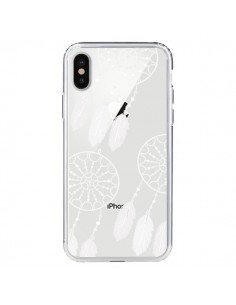 Coque Attrape Rêves Blanc Dreamcatcher Triple Transparente pour iPhone X - Petit Griffin