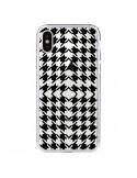 Coque Vichy Carre Noir Transparente pour iPhone X et XS - Petit Griffin