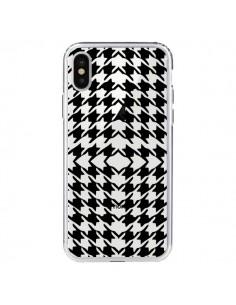 Coque Vichy Carre Noir Transparente pour iPhone X - Petit Griffin