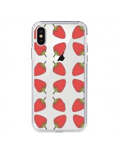 Coque Fraise Fruit Strawberry Transparente pour iPhone X - Petit Griffin