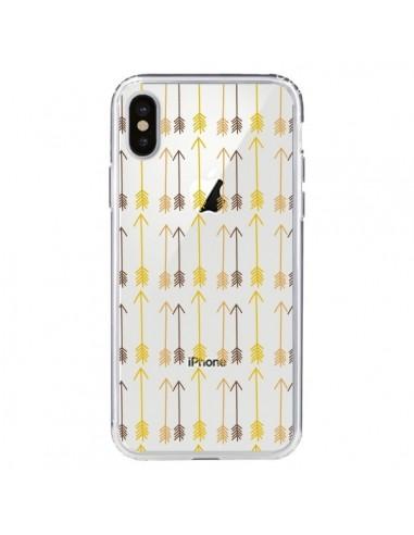 Coque Fleche Arrow Transparente pour iPhone X et XS - Petit Griffin