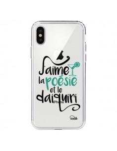 Coque J'aime la poésie et le daiquiri Transparente pour iPhone X - Lolo Santo