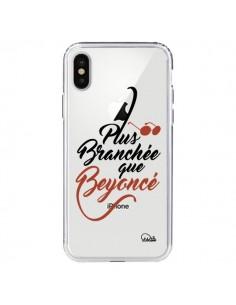 Coque Plus Branchée que Beyoncé Transparente pour iPhone X - Lolo Santo