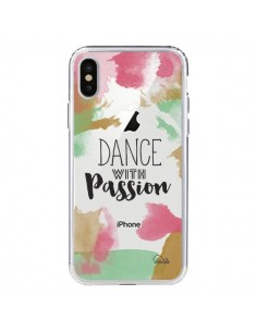 Coque Dance With Passion Transparente pour iPhone X - Lolo Santo