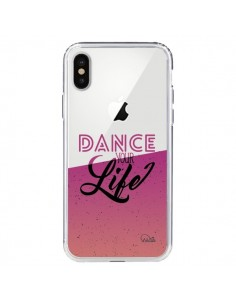 Coque Dance Your Life Transparente pour iPhone X - Lolo Santo