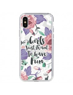 Coque Girls Fun Transparente pour iPhone X - Lolo Santo
