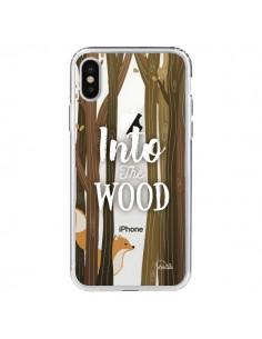 Coque iPhone X et XS Into The Wild Renard Bois Transparente - Lolo Santo