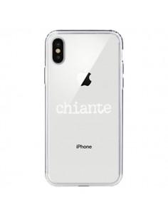Coque Chiante Blanc Transparente pour iPhone X - Maryline Cazenave
