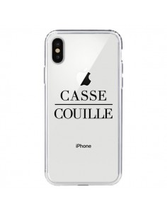 Coque Casse Couille Transparente pour iPhone X - Maryline Cazenave