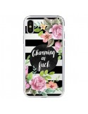 Coque iPhone X et XS Charming as Fuck Fleurs Transparente - Maryline Cazenave