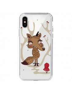 Coque Le Petit Chaperon Rouge Loup Hello Big Wolf Transparente pour iPhone X - Maria Jose Da Luz