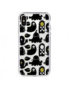 Coque Monsters Monstres Pattern Transparente pour iPhone X - Maria Jose Da Luz