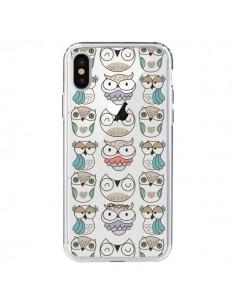 Coque Chouettes Owl Hibou Transparente pour iPhone X - Maria Jose Da Luz