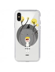 Coque Monstre Princesse Transparente pour iPhone X - Maria Jose Da Luz