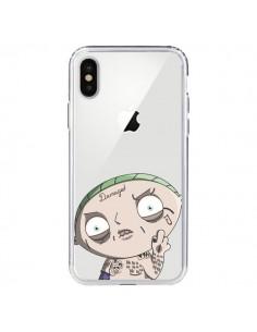 Coque Stewie Joker Suicide Squad Transparente pour iPhone X - Mikadololo