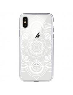 Coque Mandala Blanc Azteque Transparente pour iPhone X et XS - Nico