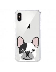Coque Bulldog Français Chien Transparente pour iPhone X - Pet Friendly