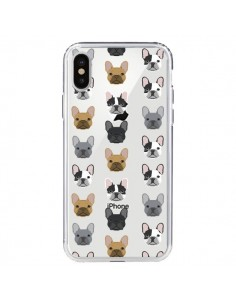 Coque Chiens Bulldog Français Transparente pour iPhone X - Pet Friendly