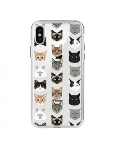 Coque Chats Transparente pour iPhone X - Pet Friendly
