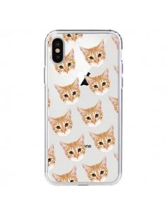 Coque Chats Beige Transparente pour iPhone X et XS - Pet Friendly