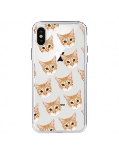 Coque Chats Beige Transparente pour iPhone X - Pet Friendly
