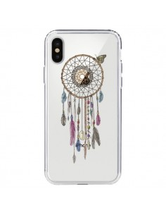 Coque Attrape-rêves Lakota Transparente pour iPhone X - Rachel Caldwell