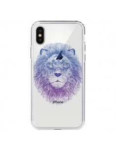 Coque Lion Animal Transparente pour iPhone X - Rachel Caldwell