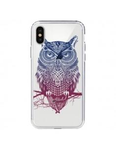 Coque Hibou Chouette Owl Transparente pour iPhone X - Rachel Caldwell