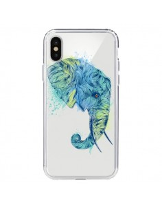 Coque Elephant Elefant Transparente pour iPhone X - Rachel Caldwell