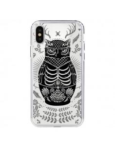 Coque Owl Chouette Hibou Squelette Transparente pour iPhone X - Rachel Caldwell