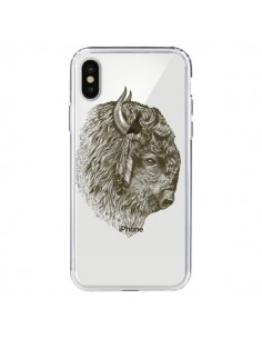 Coque Buffalo Bison Transparente pour iPhone X - Rachel Caldwell