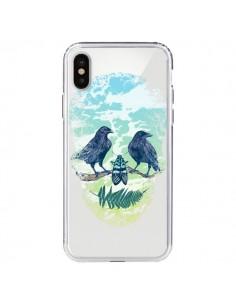 Coque Tête de Mort Nature Transparente pour iPhone X - Rachel Caldwell