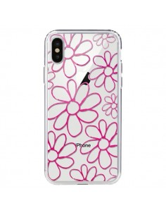 Coque Flower Garden Pink Fleur Transparente pour iPhone X - Sylvia Cook